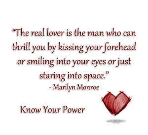 Real lover is the man who can thrill you