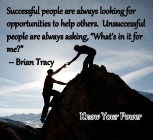 Sucessful people always look for opportunities