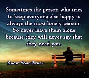 The person who tries to keep everyone else happy is always the m