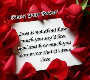 True love is how much you can prove
