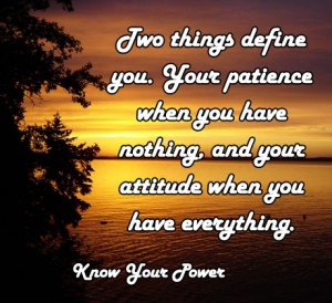 Two things that define you