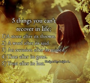 5 things one can't recover in life