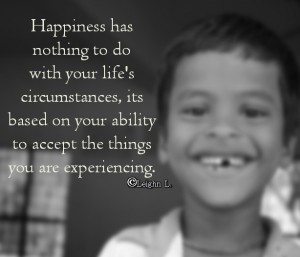 Ability to accept the things you are experiencing