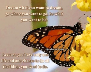 Dream what you want to dream
