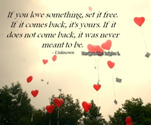 If you love something, set it free