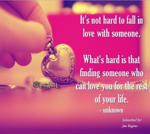 It's not hard to fall in love with someone