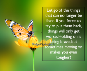 Let go of the things that can no longer be fixed