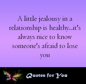 Little jealousy in relationship is healthy