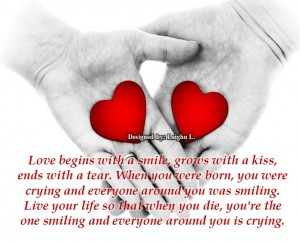 Love begins with a smile