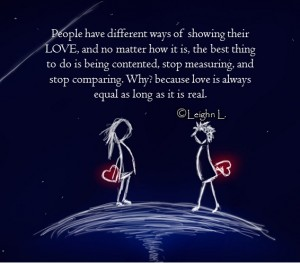 Love is always equal as long as it is real