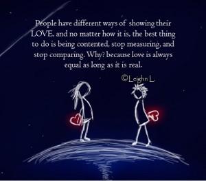 Love is always equal as long as it is real