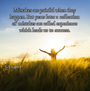 Mistakes leads us to success