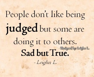 People don't like being judged