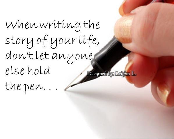 When writing a story...?