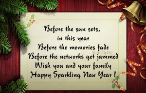 Happy sparkling new year