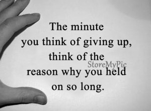 When giving up