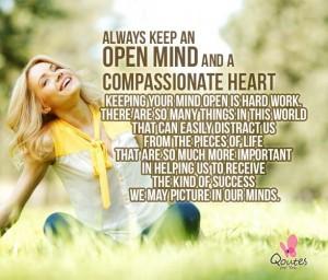 Always Keep An Open Mind