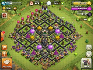 Clash of clans th level 9 base