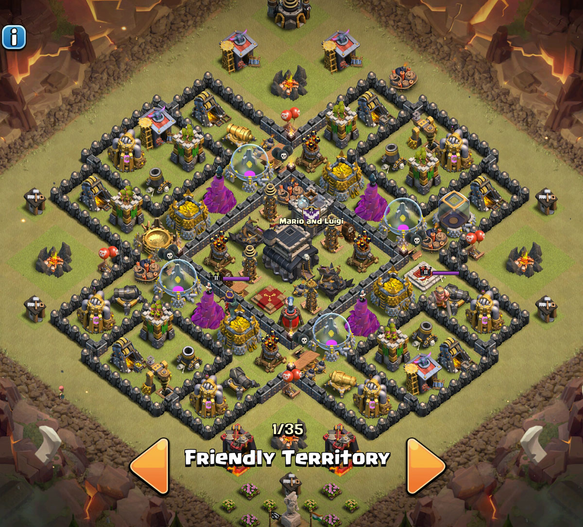 Best clash of clans th level 9 war and trophy base storemypic