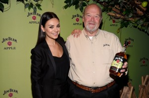 Mila kunis celebs attend jim beam apple eve