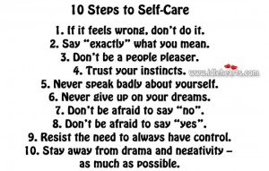 10 steps to selfcare