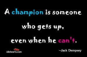 A champion is one