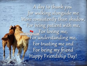 A day to thank you happy friendship day, my friend