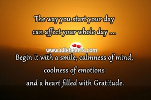 Heart filled with gratitude