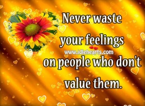 Never waste your feelings