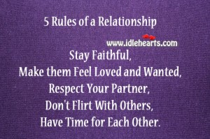 5 rules of relationship
