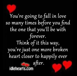 You're going to fall in love so many times