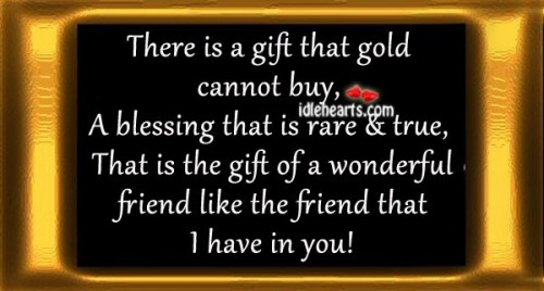 A gift that gold cannot buy