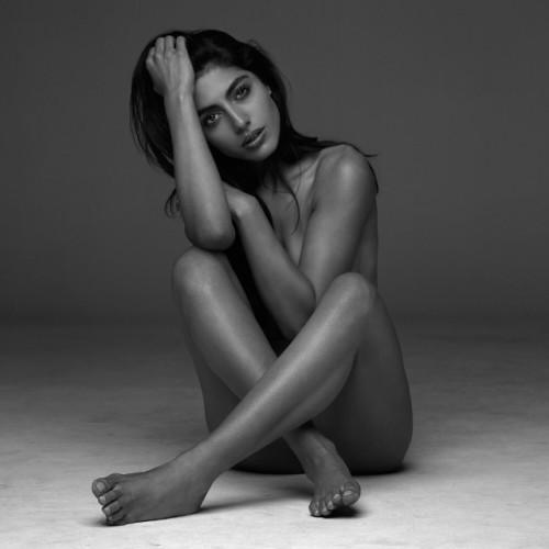 Woman body art