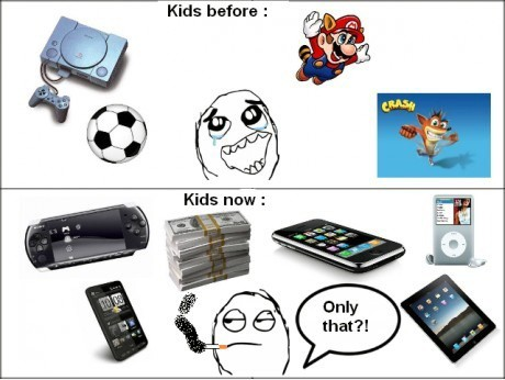 Kids before and now