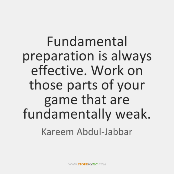 Fundamental preparation is always effective. Work on those parts of your game ...
