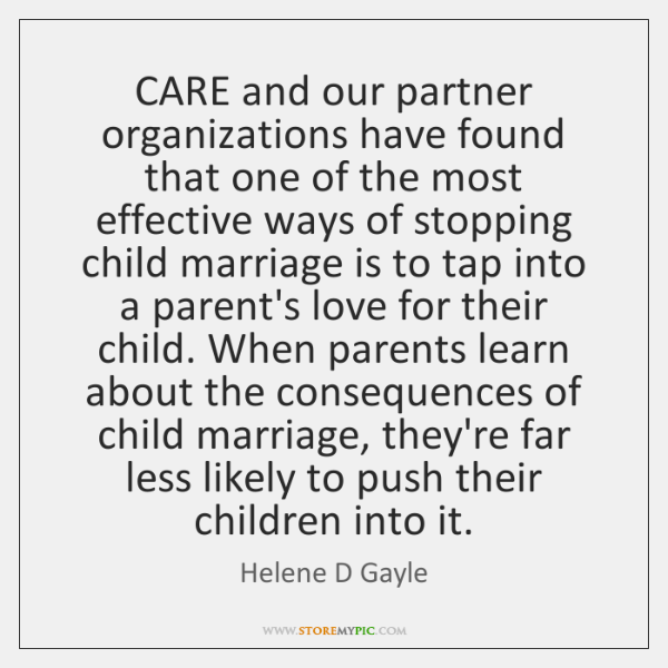 CARE and our partner organizations have found that one of the most ...