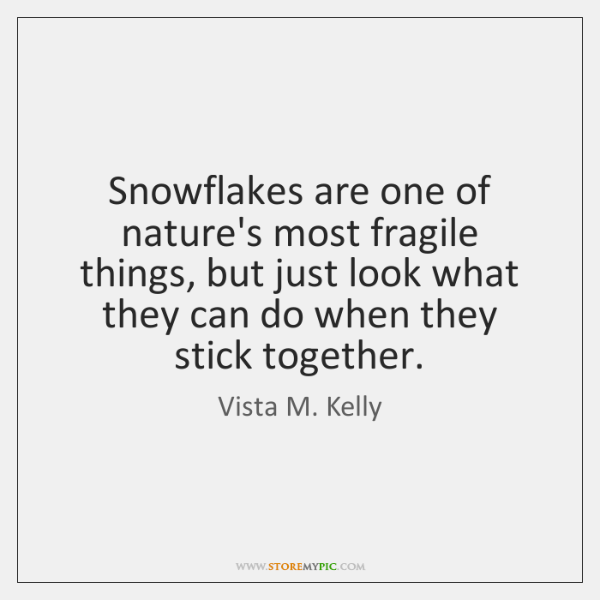 Snowflakes are one of nature's most fragile things, but just look what ...