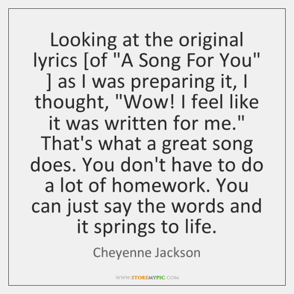 Looking at the original lyrics [of