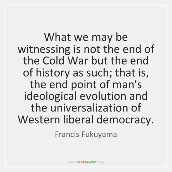 What we may be witnessing is not the end of the Cold ...