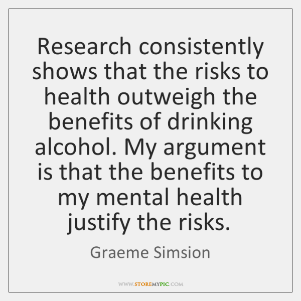 Research consistently shows that the risks to health outweigh the benefits of ...