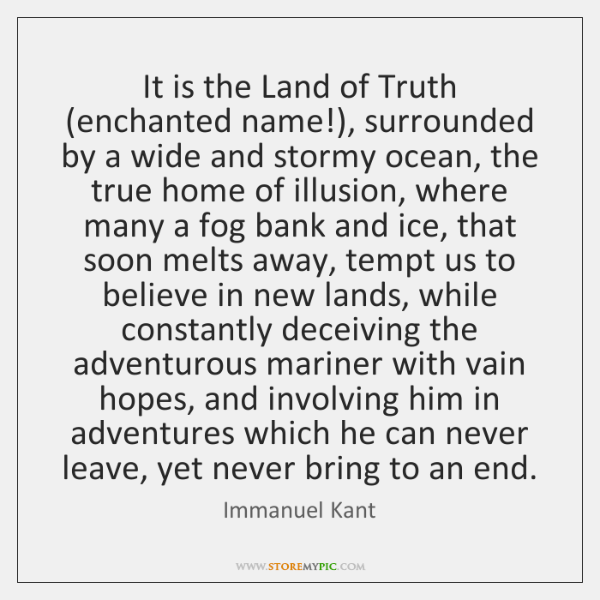 It is the Land of Truth (enchanted name!), surrounded by a wide ...