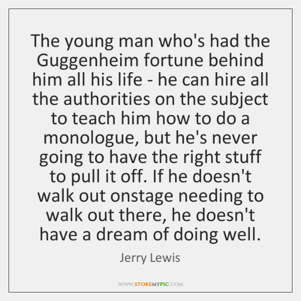 The young man who's had the Guggenheim fortune behind him all his ...