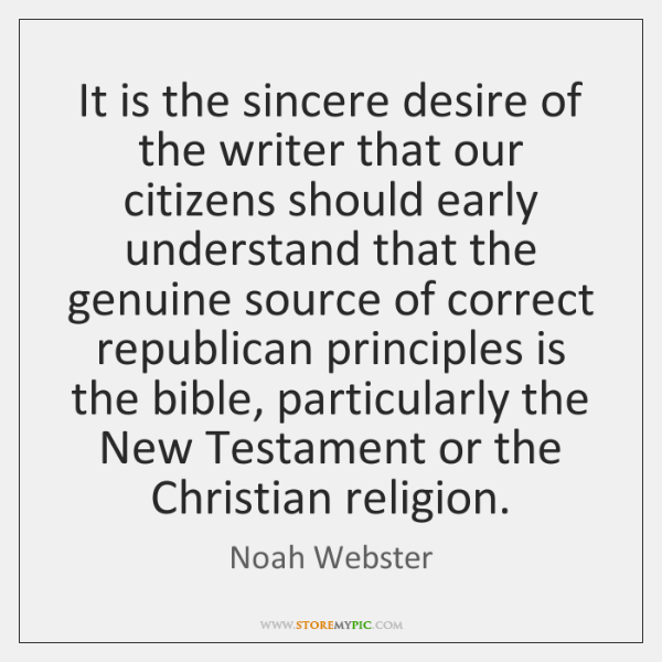 It is the sincere desire of the writer that our citizens should ...