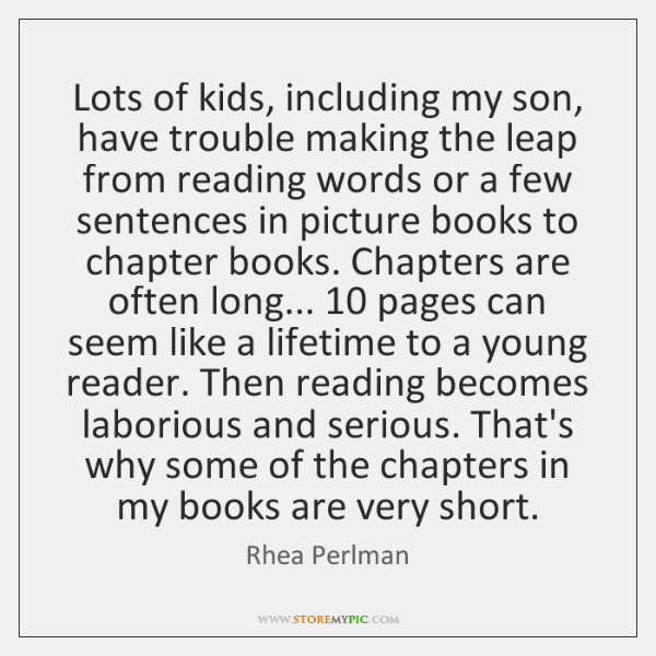 Lots of kids, including my son, have trouble making the leap from ...