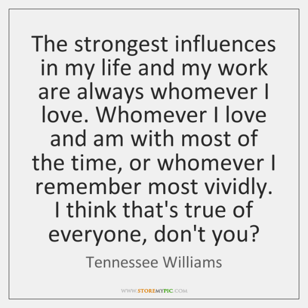 tennessee williams influences