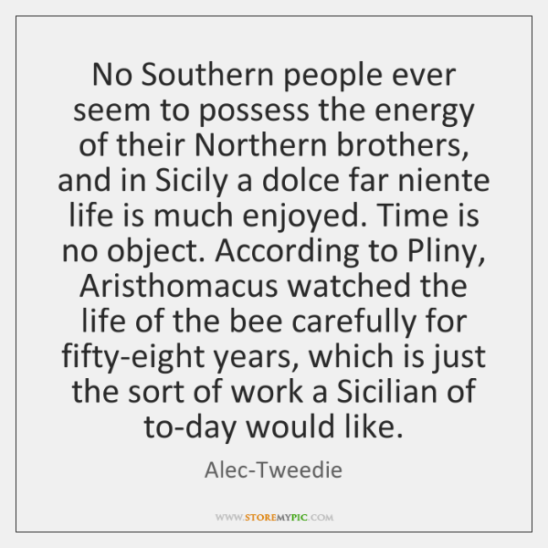 No Southern people ever seem to possess the energy of their Northern ...