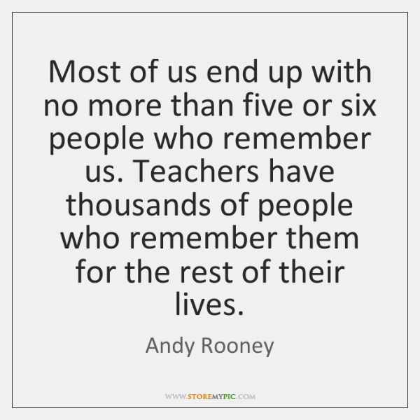 Most of us end up with no more than five or six ...