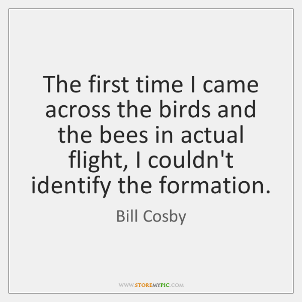 The first time I came across the birds and the bees in ...