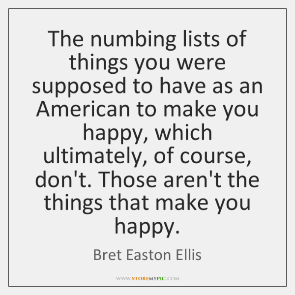 The numbing lists of things you were supposed to have as an ...