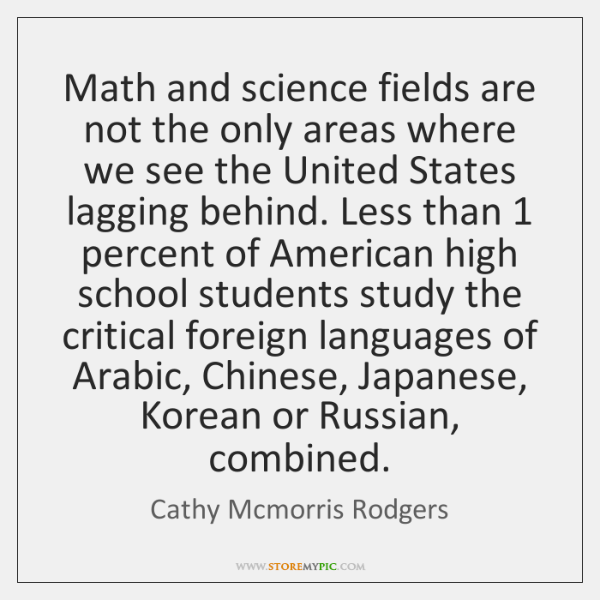 Math and science fields are not the only areas where we see ...